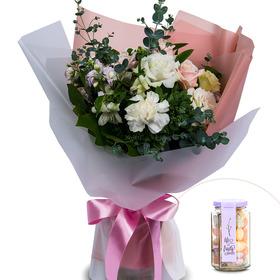 루시아꽃다발+사탕